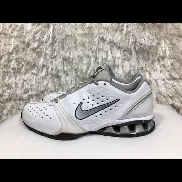bc835faf7c8a86 Nike Reax Rockstar White Silver Size 9